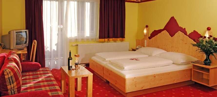 Nyd roen på de hyggelige værelser efter en lang dag i sneen