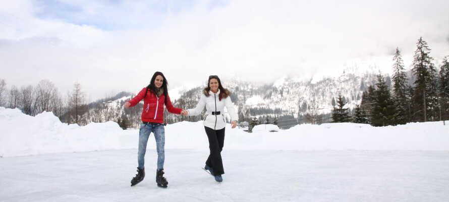 Løb på skøjter i de smukke omgivelser