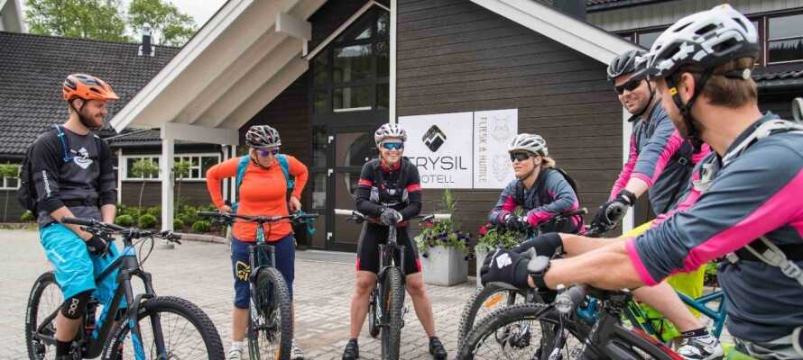 Hotellet har et tørrerum samt plads til skiudstyret og cykerne.