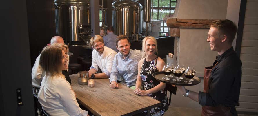Trysil Bryggeri er en del af hotellets restaurant, så hvorfor ikke prøve det lokale bryg til maden?