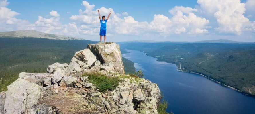 Skagsvola er en af de mest populære udflugtsmål i Trysil. Se om I kan nå toppen.