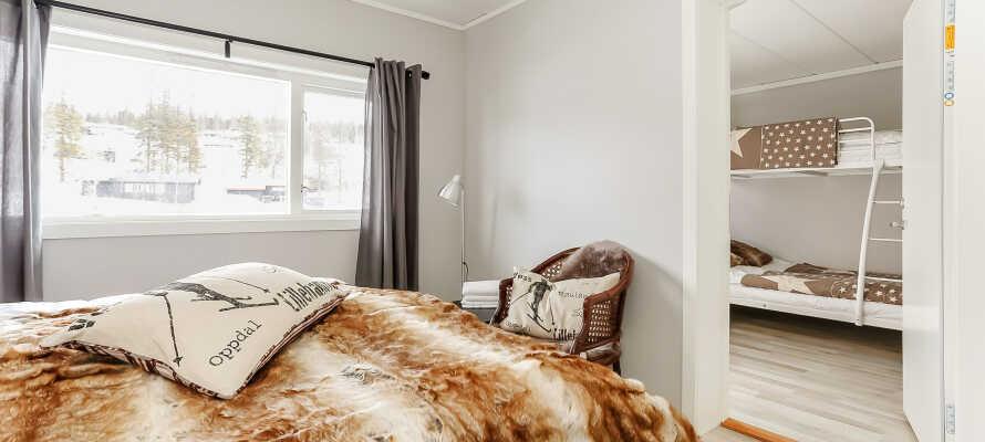 Hotellets hyggelige familieværelser, tilbyder god plads og behagelige rammer når I er på familieferie.