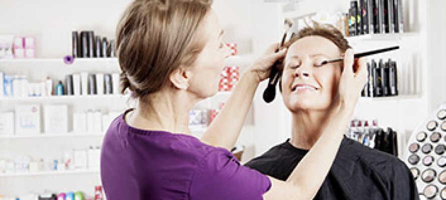 Dere kan bestille forskjellige skjønnhetsbehandlinger på hotellet og få massevis av ny energi i rolige omgivelser