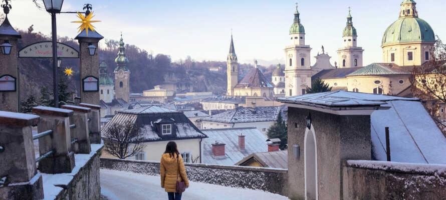 Kør en tur til den spændende storby Salzburg, som har masser af oplevelser at byde på.