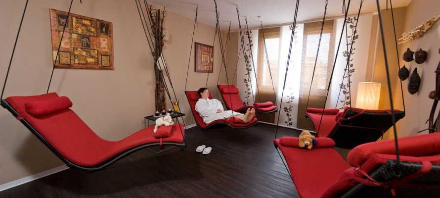 Der er lagt op til nogle skønne, afslappende stunder i hotellets eget wellnessområde.