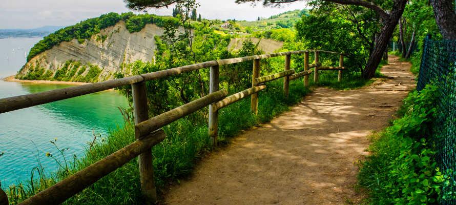 Det flotte område rundt om Portoroz er oplagt til en aktiv ferie med vandreture og smukke floder.