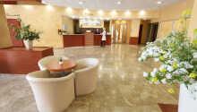 Ved at bestille med Risskov Bilferie får I en god pris på jeres ophold på Hotel Salinera.
