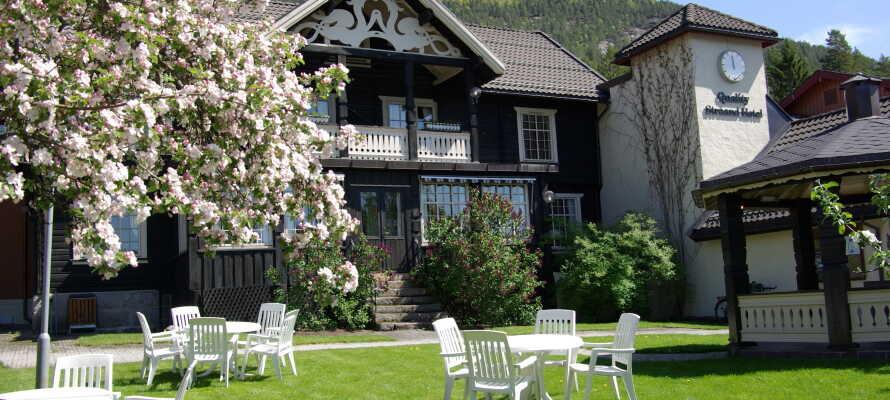 Hotellet ligger i populære Vrådal i Telemark