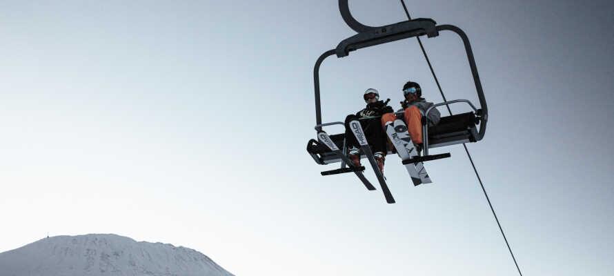 Nyd godt af hotellets nærhed til Gausta Skicenter, som betyder at I får ski in / ski out til et af Norges bedste skiområder.
