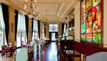 Hotellet er indrettet i stilfulde omgivelser!