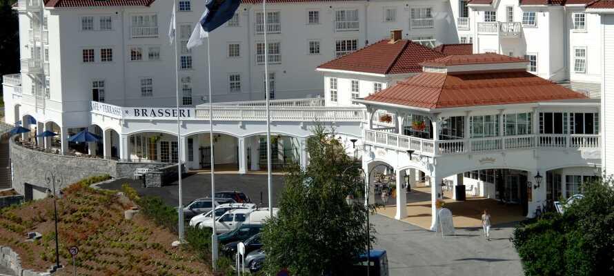 Her sjekker dere inn i Geilo, øverst i Hallingdal, på et storslagent hotell i fantastiske naturomgivelser.