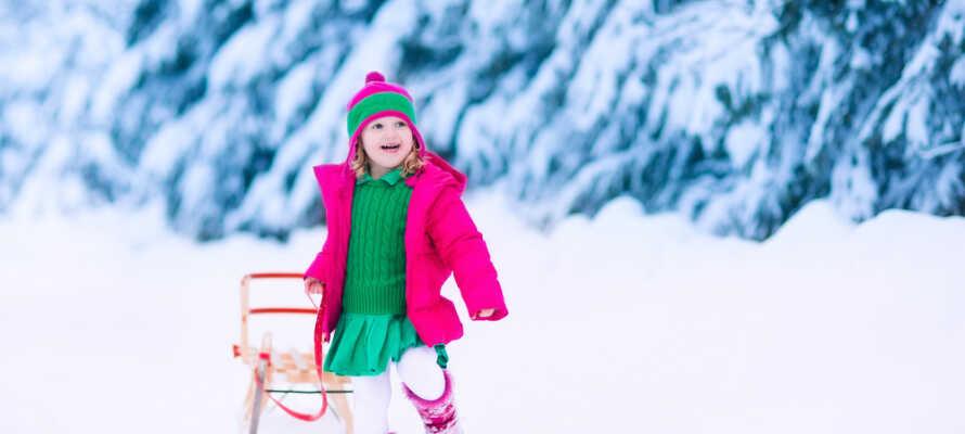 Det perfekte stedet å dra på vinterferie med familien i snøen.