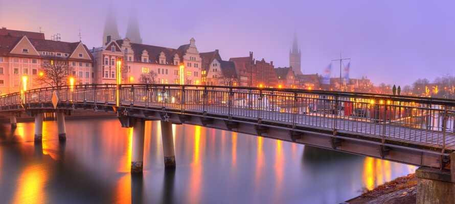 Tag på opdagelse i hansestaden Lübeck og oplev den gamle bydel, som er på UNESCO's liste over verdens kulturarv.