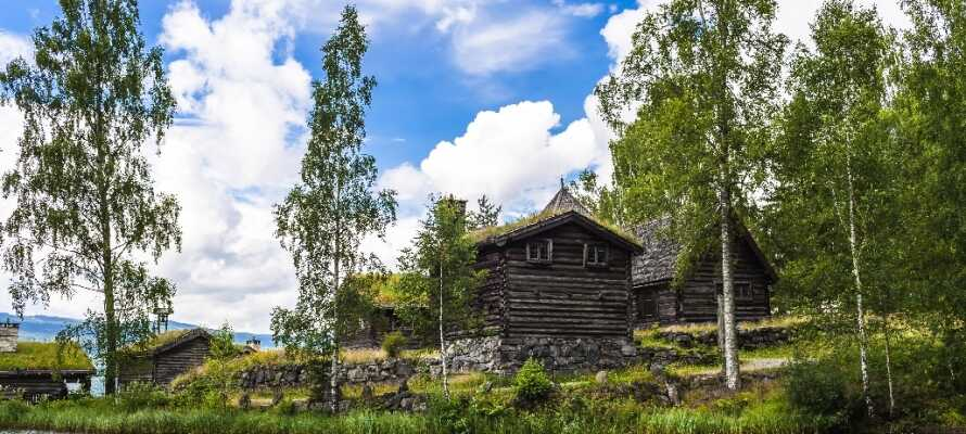 Maihaugen ligger i Lillehammer og er et af de største friluftsmuseer i Norge.