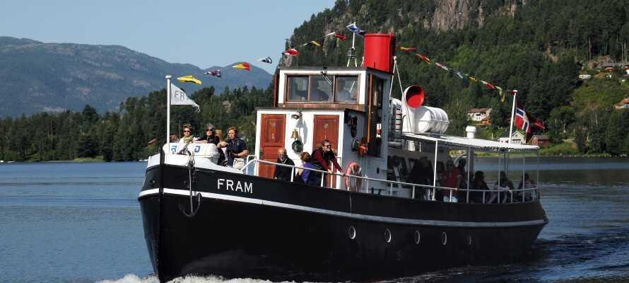 Kom på en enestående bådtur med veteranskibet M/S Fram. Køb billetten ved check-ind og få stor rabat!