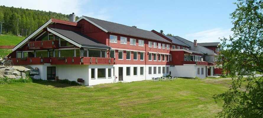 Hotellet ligger 850 meter over havet.