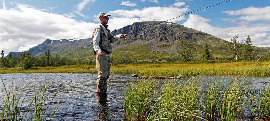 Gode muligheder for både vandre- og cykelture, og vil I gerne prøve at fiske, så hør ad i receptionen.