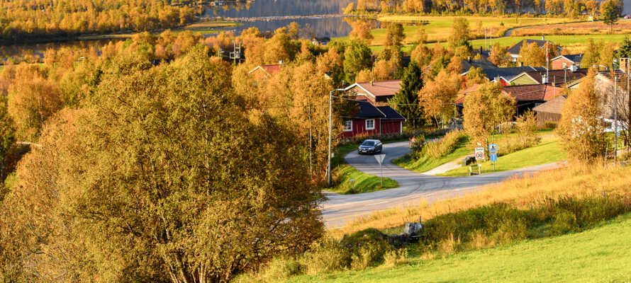 Hotellet er omgitt av nydelig norsk natur.