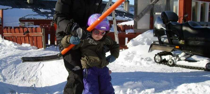 Det er gratis å benytte skiheisen mens dere bor på hotellet.