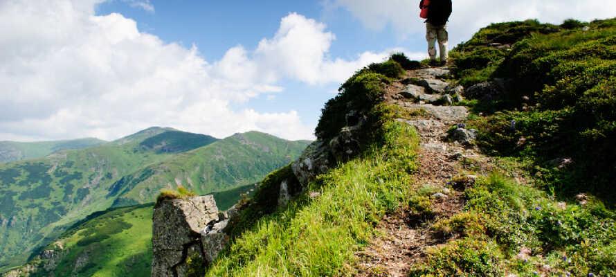 Om sommeren er området ideelt til vandre- og cykelture, og om vinteren et sandt paradis til ski- og kælkeoplevelser.