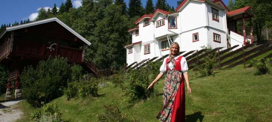 Nabodalen i øst, Sigdal, er kendt som Kunstnerdalen med samlinger fra Christian Skredsvig og Theodor Kittelsen.