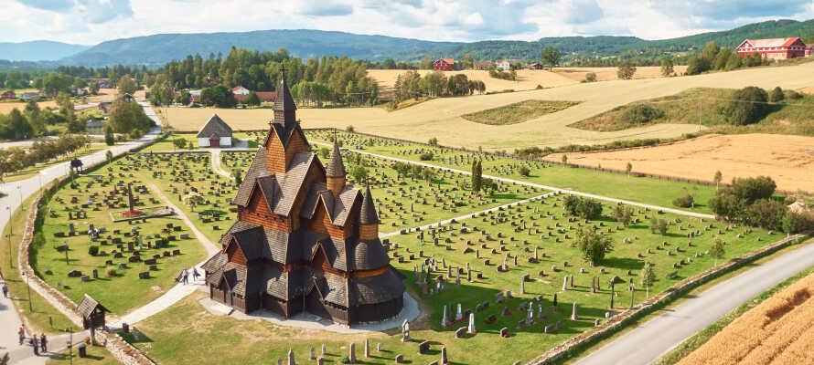 Besøg den charmerende Heddal Stavkirke, som er en af mange spændende seværdigheder i regionen.