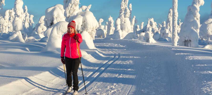Telemarks  vackra vinterlandskap erbjuder både längdskidåkning och utförsåkning.