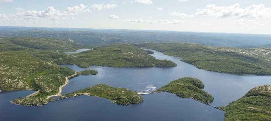Eikerapen Gjestegård er et godt udgangspunkt for at opleve den smukke natur i Sydnorge