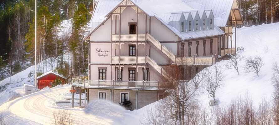 Om vinteren er der muligheder for at stå på ski ikke langt fra hotellet.