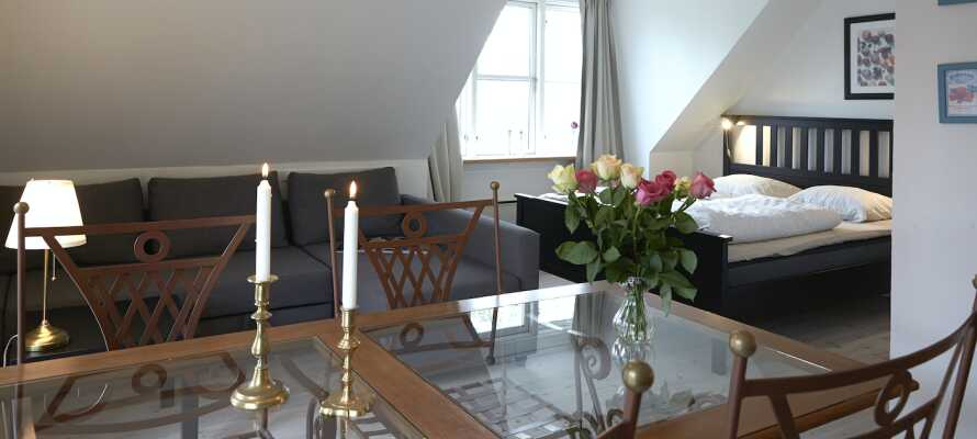 Alle lejlighederne tilbyder god plads og er indrettet med eget køkken, stue, badeværelse og soveværelse