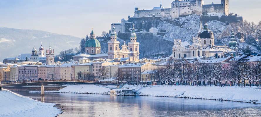 Oplev smukke Salzburg, som er en helt speciel oplevelse om vinteren.