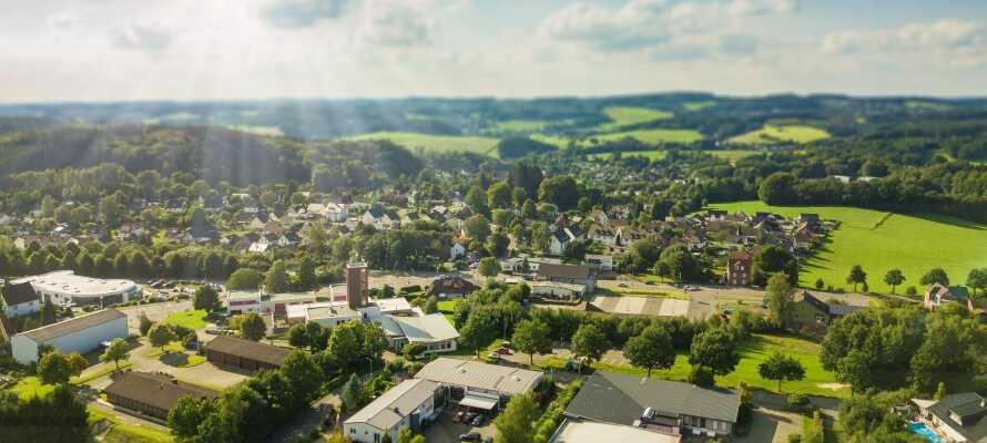 Gummersbach ligger midt i det smukke område, 'Bergisches Land', som byder på masser af naturoplevelser året rundt.