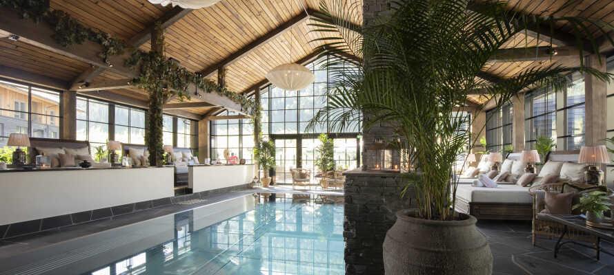 Slap af i hotellets unikke Pool Club på hele 1.000 m² med swimmingpools, bar, pejsestue, spil og meget andet.