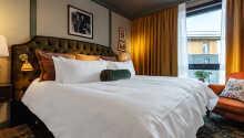 Et eksempel på et af hotellets dobbeltværelser.