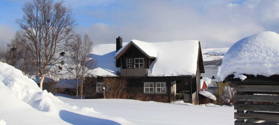 Nyd den fredfyldte og rolige landsbystemning ved Vågåvatnet.
