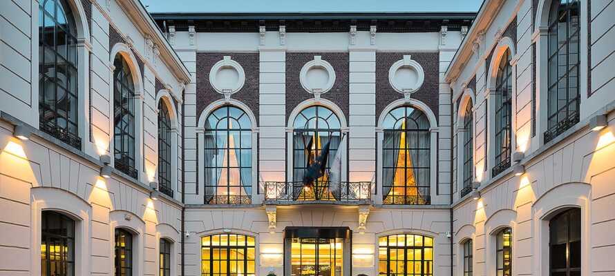 Den enestående hotelbygning dateres tilbage til  det 16. århundrede. Bygningen blev renoveret i 2020.