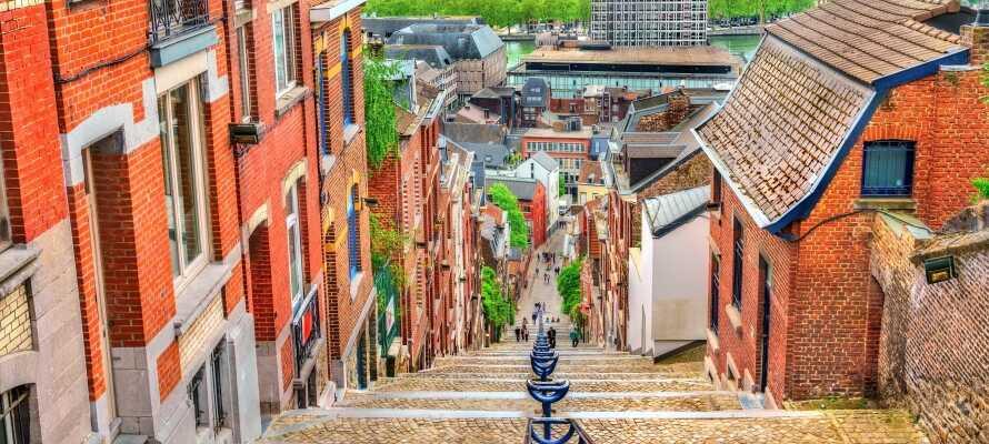 Prøv en af de mange spændende restauranter i det pulserende Liège.