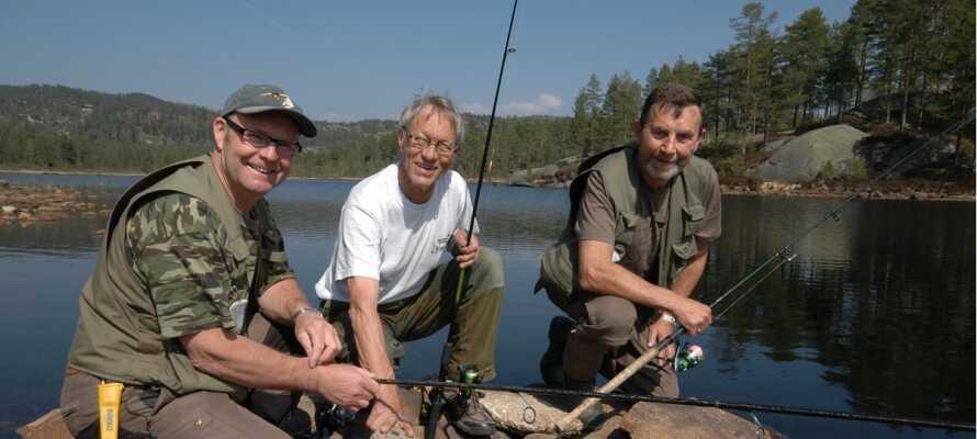 I kan fiske og bade i den nærliggende sø.