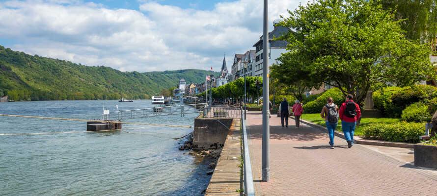 Hvad enten det er til fods, på cykel eller med båd - Rhinen og dens smukke bredder danner perfekte rammer for en afslappende ferie.
