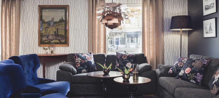 Hotellet er indrettet i en bygning fra 1930'erne, og oser af historisk charme og hjemlig hygge.