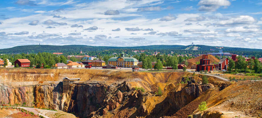 Oplev kobberminerne ved det UNESCO-listede Falu Gruva.