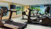 Hotellet tilbyder fri adgang til det moderne fitnessområde.
